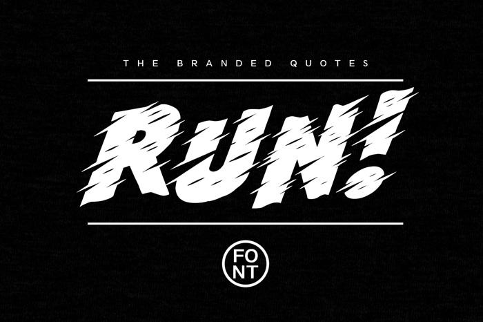 Run! Font poster