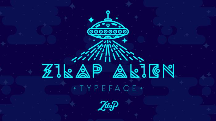 Zilap Alien Font poster