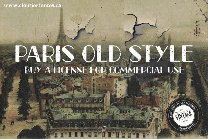 CF Paris Old Style Font poster