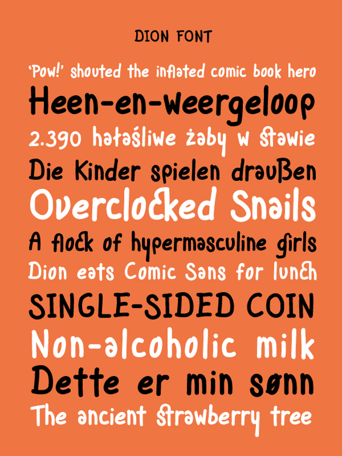 Dion Font poster