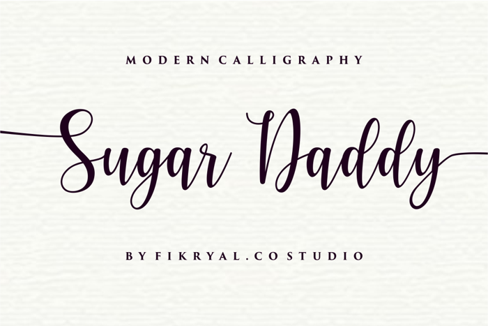 Sugar Daddy Font poster