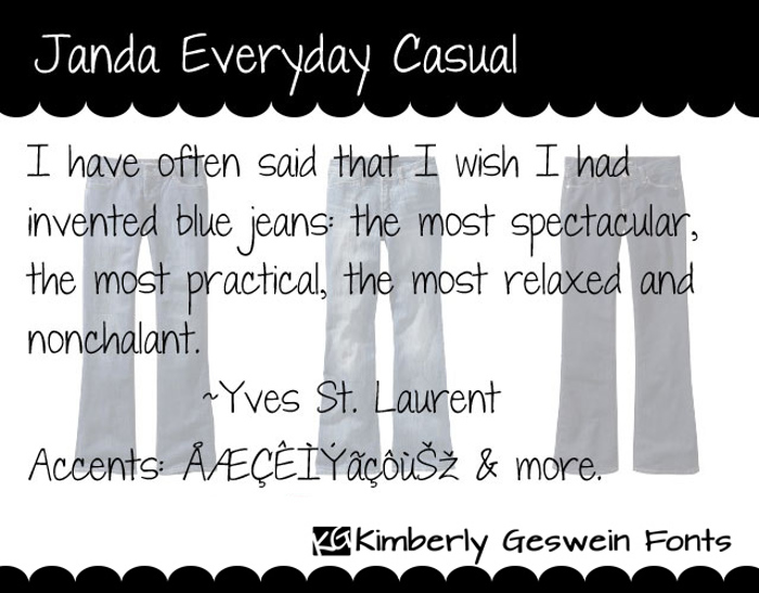 Janda Everyday Casual Font poster