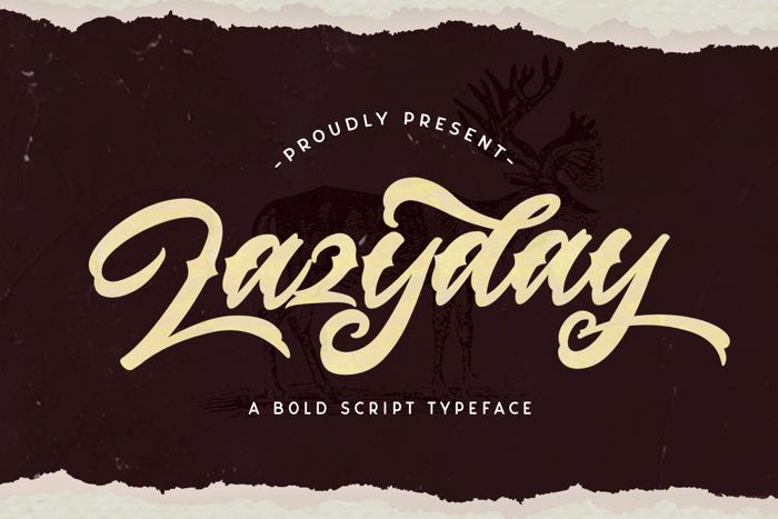 Lazyday Font poster
