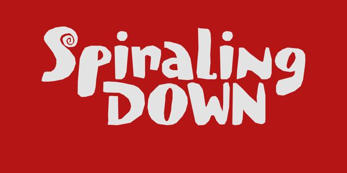 Spiraling Down DEMO Font poster