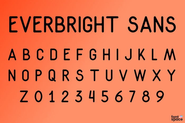 Everbright Sans Font poster
