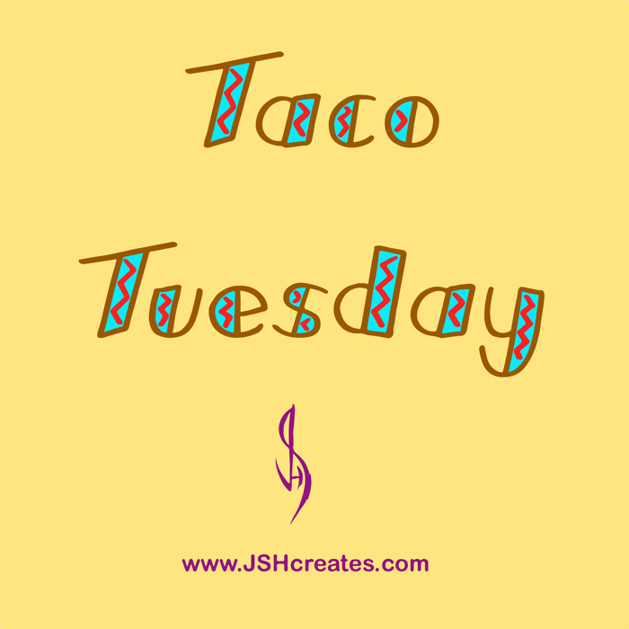 Taco Tuesday Font poster