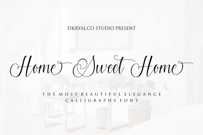 Home Sweet Home Font poster