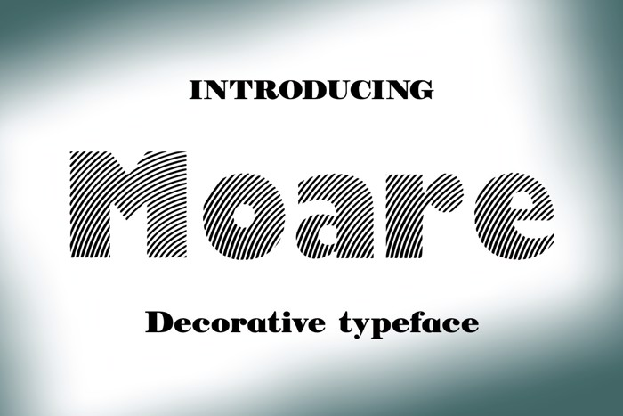 Moare Font poster