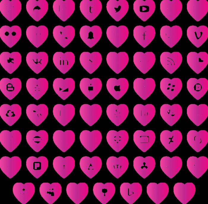 love social media Font poster