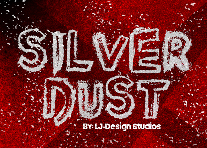 Silver Dust Font poster