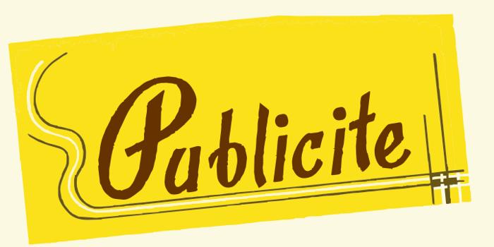 Publicite Font poster