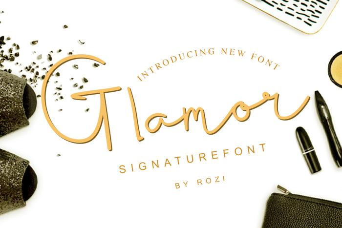 Glamor Signature Font poster