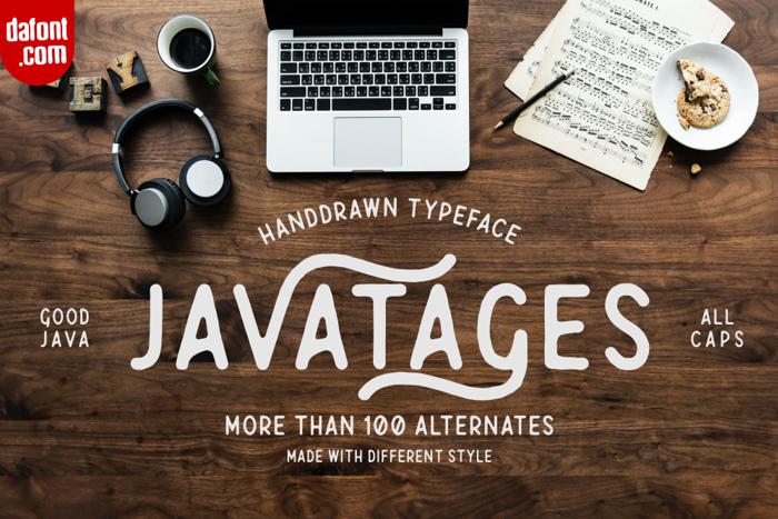 Javatages Font poster
