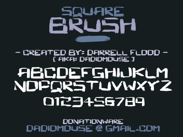 Square Brush Font poster