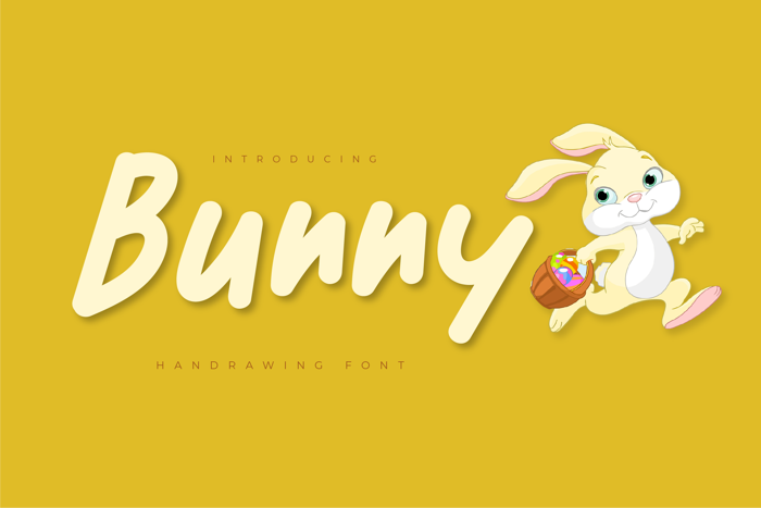 Bunny Font poster