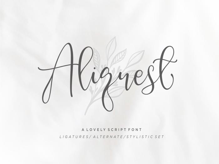 Aliquest Font poster