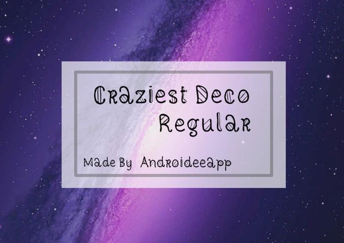 Craziest Deco Regular Font poster