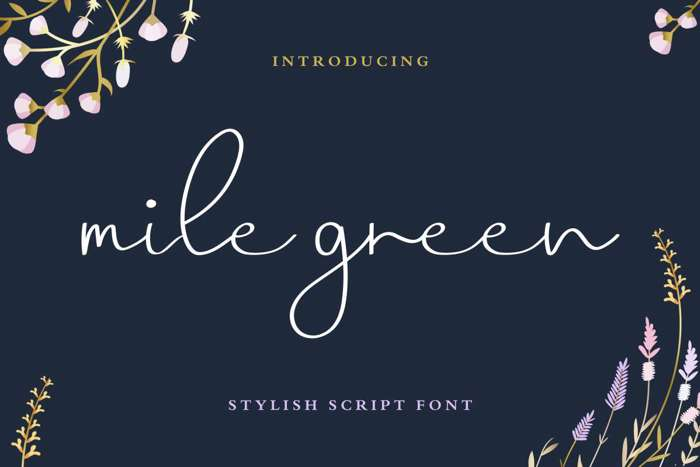 Mile Green Font poster