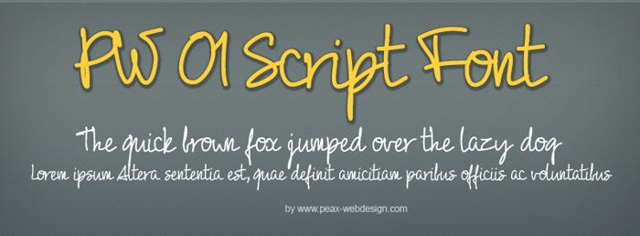 PW01Script Font poster