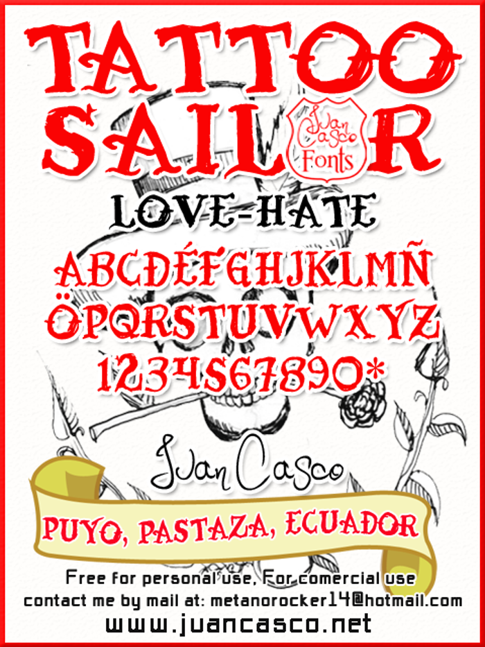 Tattoo Sailor Font poster