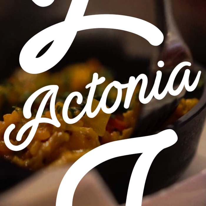 Actonia Hand Font poster