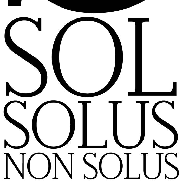 Non Solus Font poster