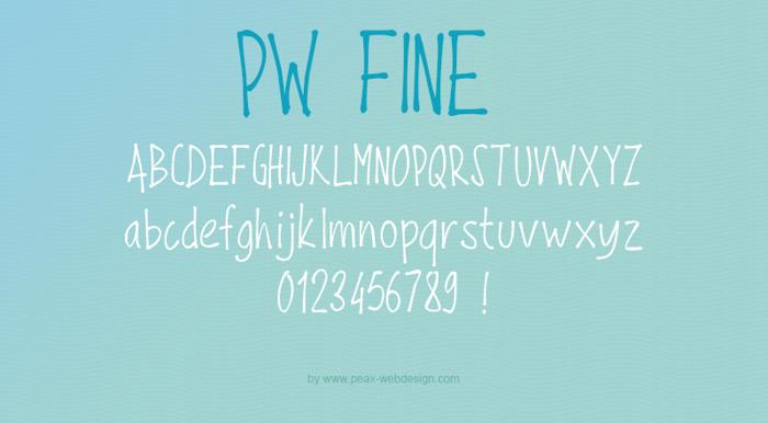 PWFine Font poster