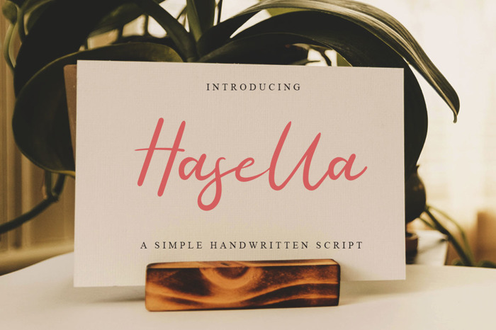 Hasella Font poster