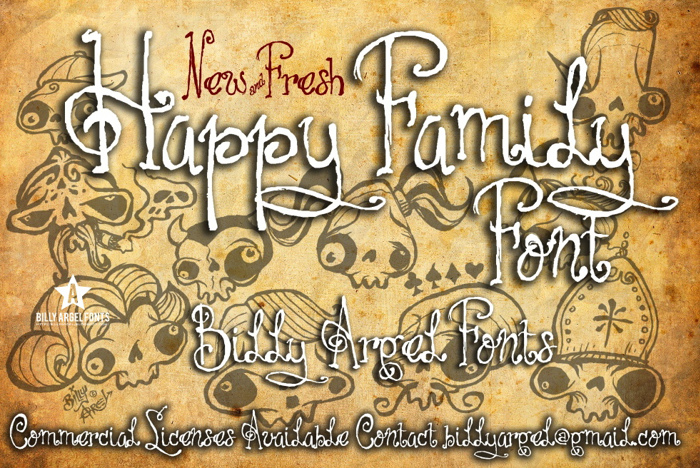 HAPPY FAMILY Font poster