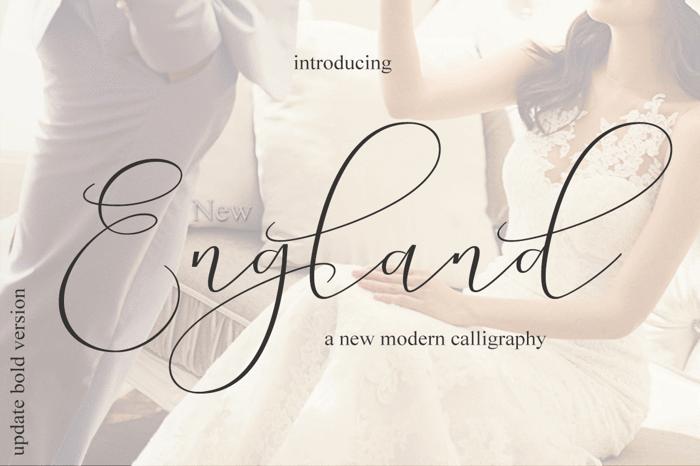 England Bold Font poster