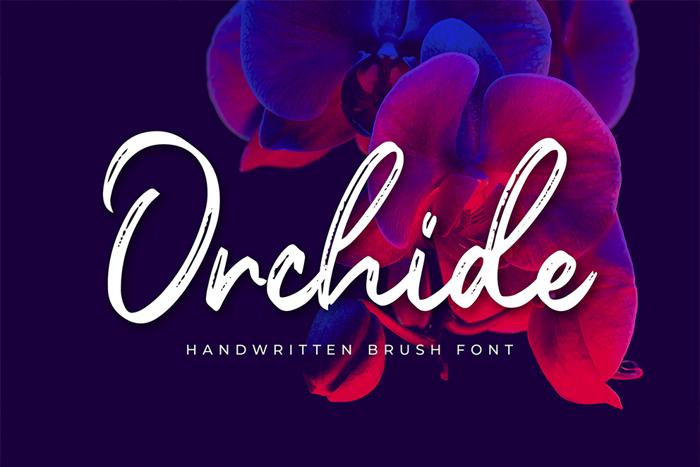 Orchide Font poster