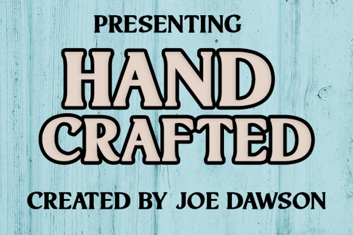 Hand Crafted Font poster