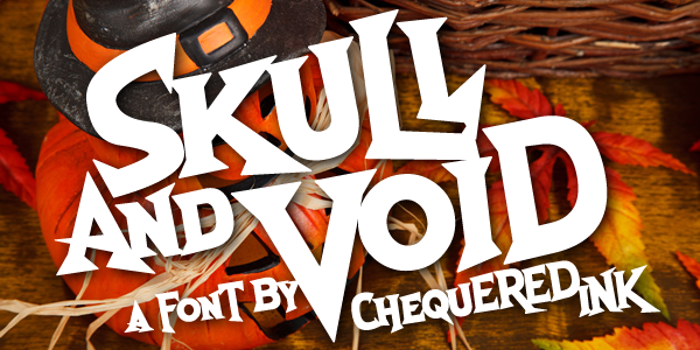 Skull And Void Font poster