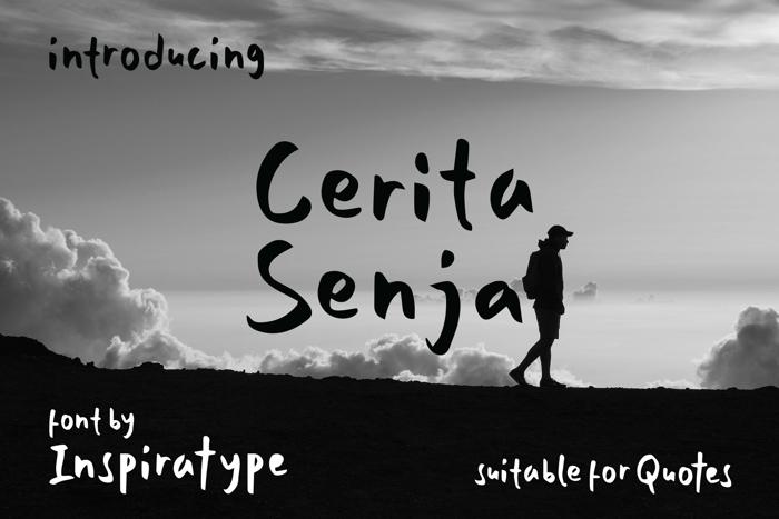Cerita Senja Font poster