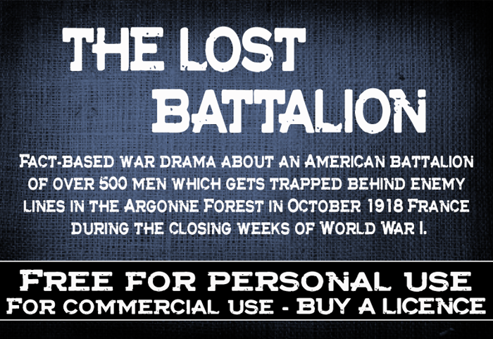 CF The lost battalion Font poster