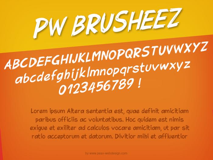 PWBrusheez Font poster