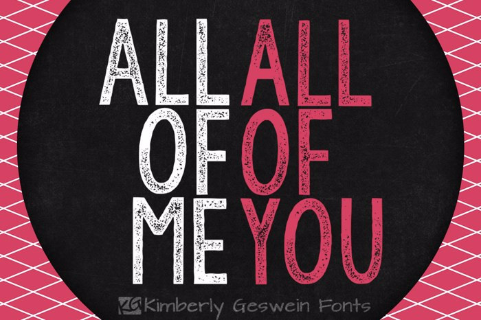 KG All of Me Font poster