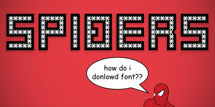 Spiderling Font poster