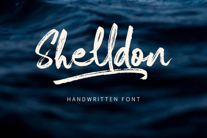 Shelldon Font poster