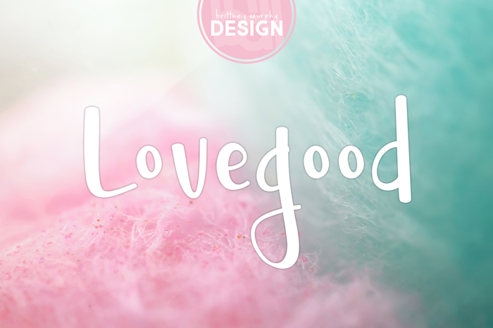 Lovegood Font poster