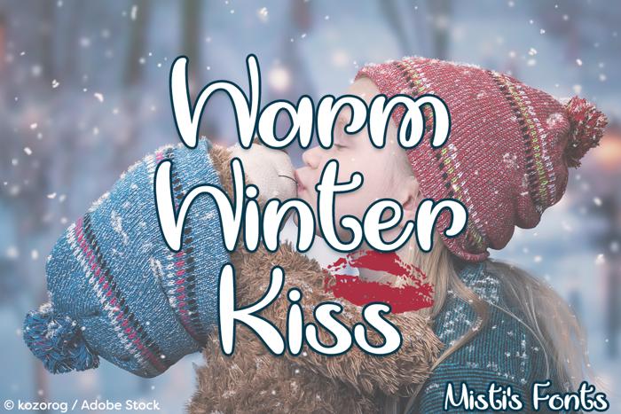 Warm Winter Kiss Font poster