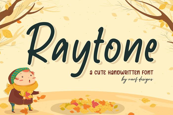 Raytone Font poster