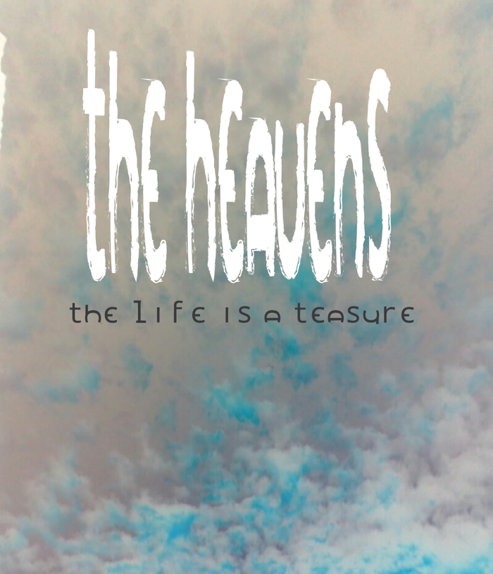 the heavens Font poster
