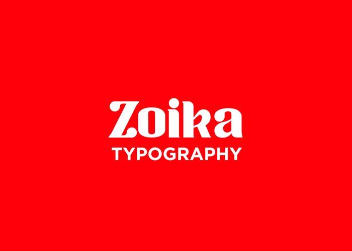 Zoika Font poster