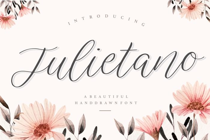 Julietano Font poster