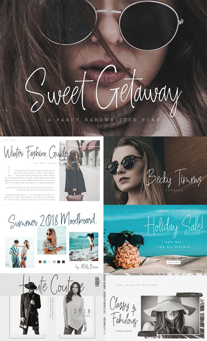 Sweet Getaway Font poster