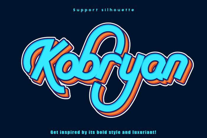 Kobryan Font poster