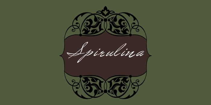 Spirulina Font poster