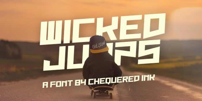 Wicked Jumps Font poster