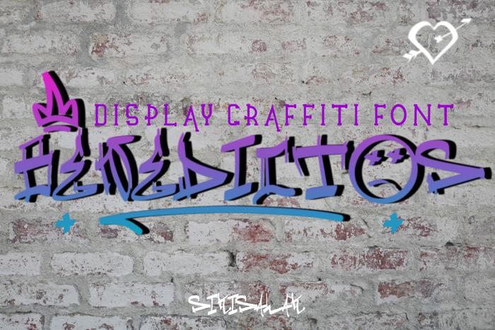 Benedicto Graffiti Font poster